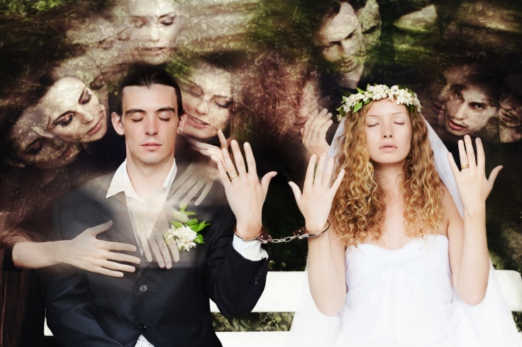 Wedding couple and lovers