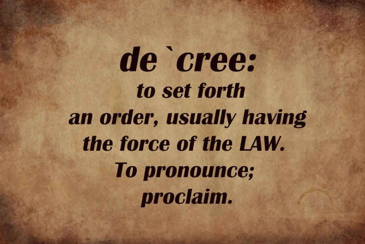 decree